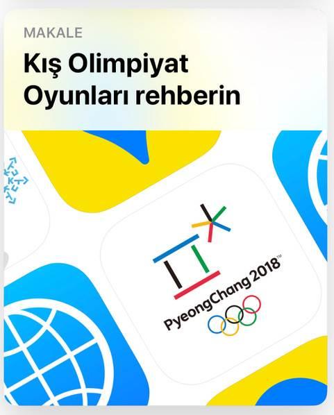Kış olimpiyatları için App Store'da özel sekme