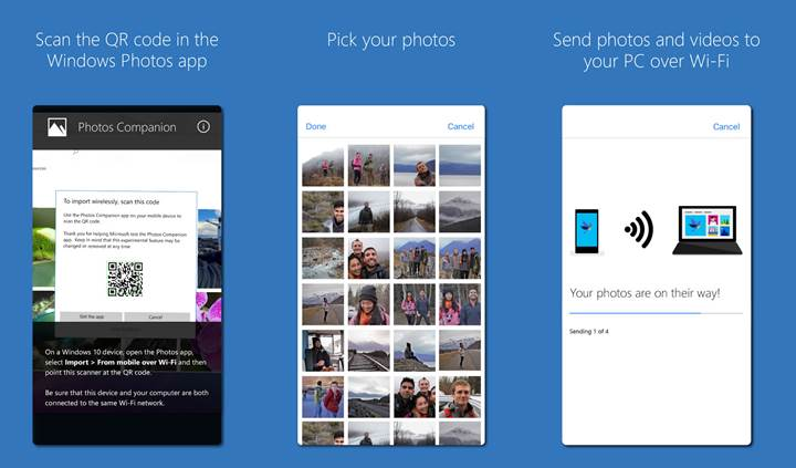 Microsoft, telefondan PC'ye fotoğraf aktarımını kolaylaştıran uygulama çıkardı