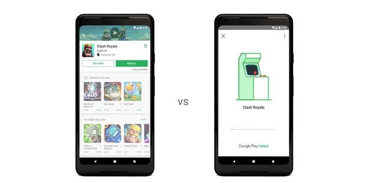 Anlık uygulamalar Google Play Instant adını alıyor