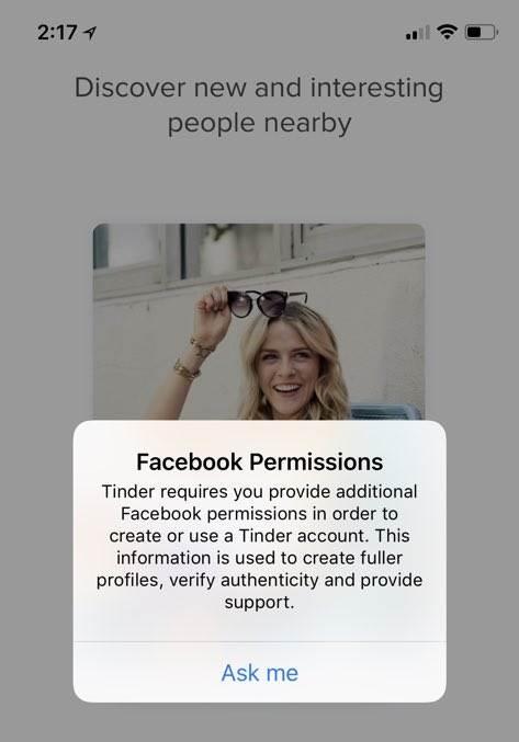 Facebook'un yeni veri kullanım sözleşmesi Tinder'in çökmesine neden oldu