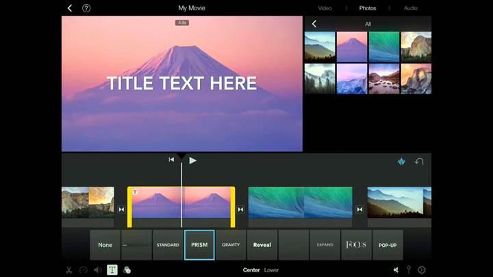 iOS iMovie'ye iPhone X desteği geldi