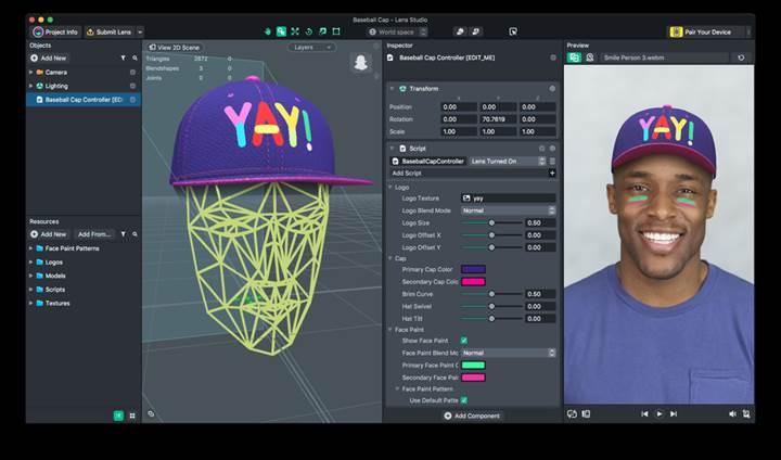 Snapchat artık kendi AR yüz filtrenizi oluşturmanıza olanak verecek