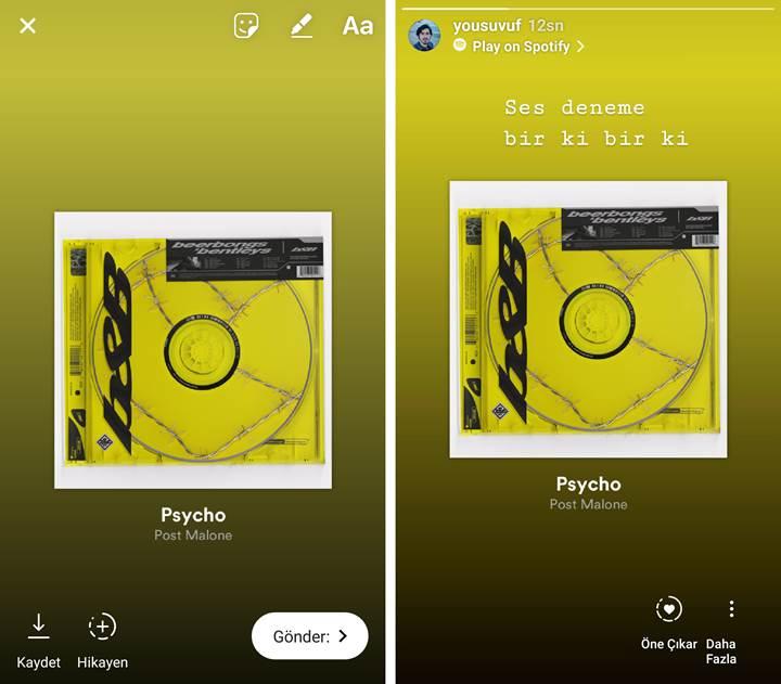 Instagram Hikâyelere Spotify'dan nasıl şarkı eklenir?