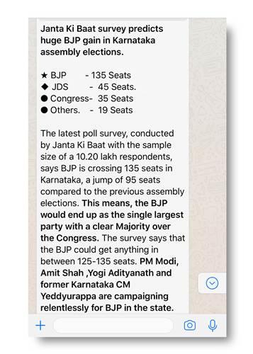 WhatsApp, Hindistan'daki seçimleri etkiliyor