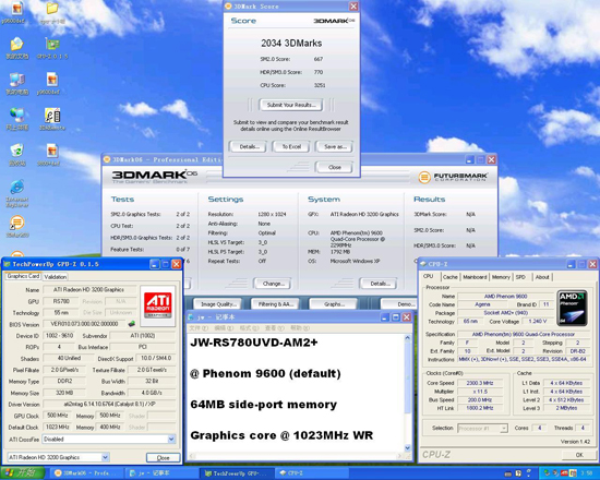 J&W'nin 1GHz IGP hızına sahip 780G yonga setli anakartı