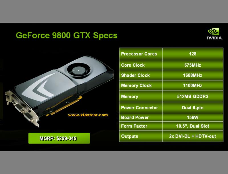 GeForce 9800GTX'in fiyatları şekilleniyor