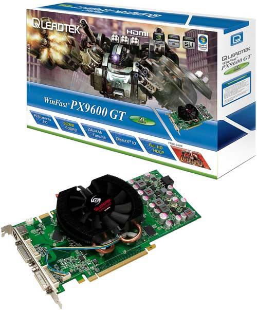Leadtek'den Zalman soğutmalı GeForce 9600GT ZL geliyor