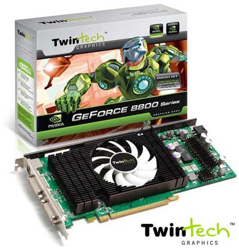 Twintech'den 1GB bellekli ve özel soğutuculu GeForce 8800GT