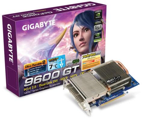 Gigabyte'dan 1GB bellekli ve pasif soğutmalı GeForce 9600GT