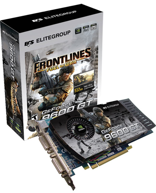 ECS'den GeForce 9600GT Frontlines Edition