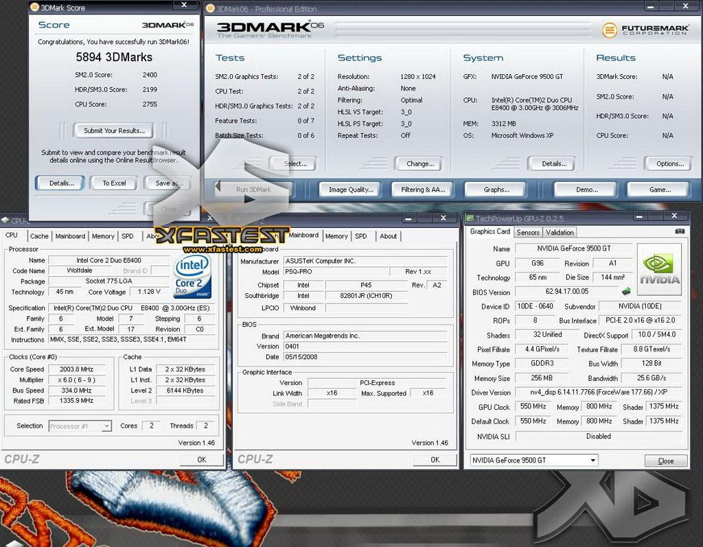 GeForce 9500GT'nin test sonuçları gelmeye başladı