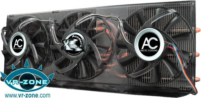 AC'den GeForce 9800GTX için 3 fanlı özel soğutucu