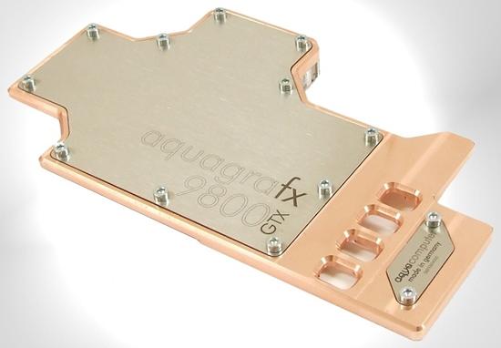 Aqua Computer'dan GeForce 9800GTX için yeni su soğutma bloğu