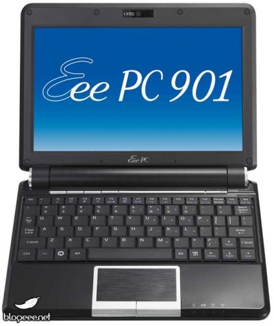 Asus Eee PC 901'in Siyah modeli de geliyor