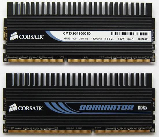 Corsair'den 1800MHz'de çalışan 4GB'lık bellek kiti