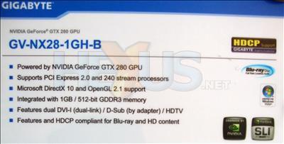Computex 2008: Gigabyte'ın GeForce GTX 200 serisinden ilk sinyaller