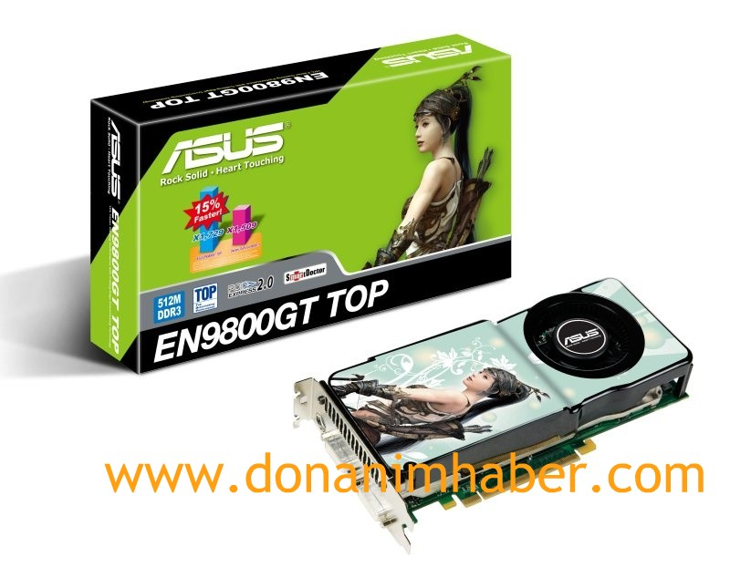 DH Özel: Asus GeForce 9800GT TOP'un görsel ve detayları ortaya çıktı