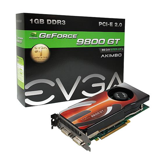 EVGA, Akimbo serisi GeForce 9800GT modellerini duyurdu