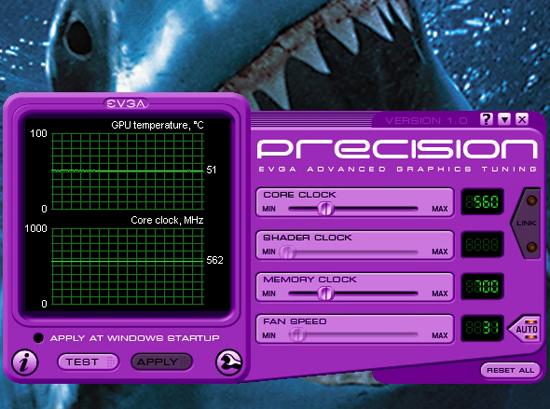 EVGA'nın yeni overclock uygulaması Precision kullanıma sunuldu