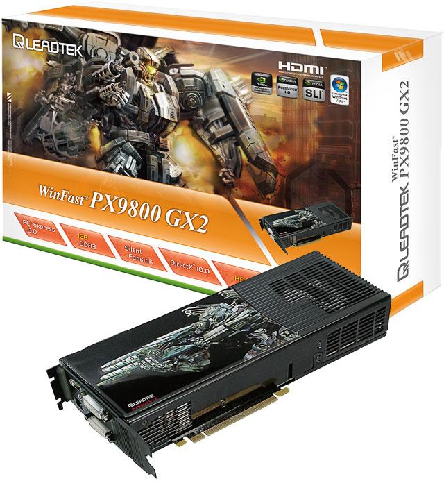 XFX ve Leadtek'in GeForce 9800GX2 modelleri kullanıma sunuldu