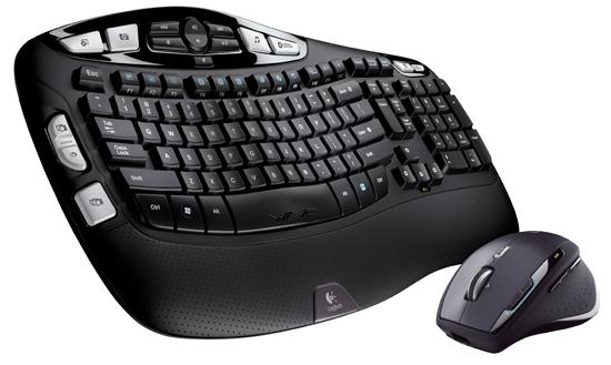 Logitech'den yeni bir klavye/fare seti; Cordless Desktop Wave Pro