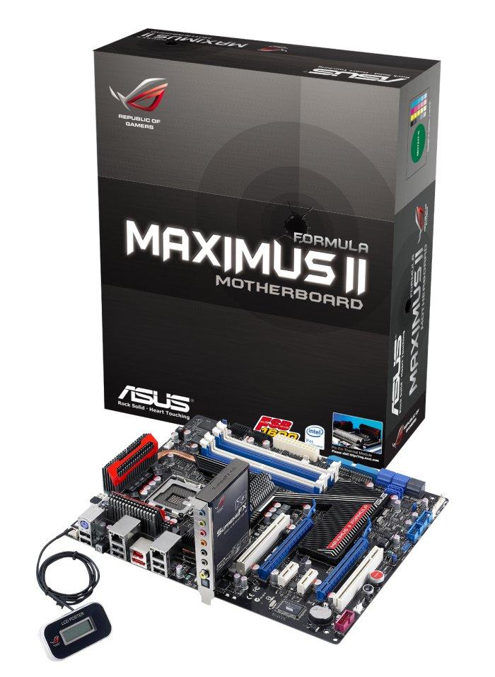 Asus P45 çipsetli Maximus II Formula'yı resmen duyurdu