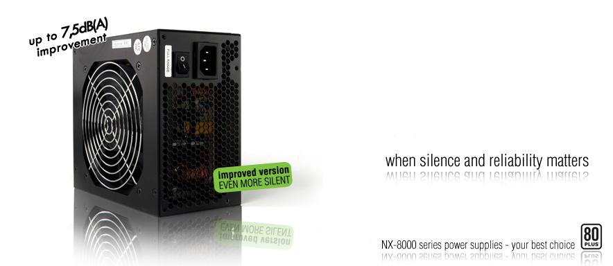 Nexus'un 600 watt'lık güç kaynağı (NX-8060) artık daha sessiz