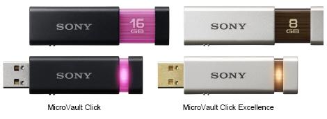 Sony'den MicroVault Click serisi yeni usb bellekler