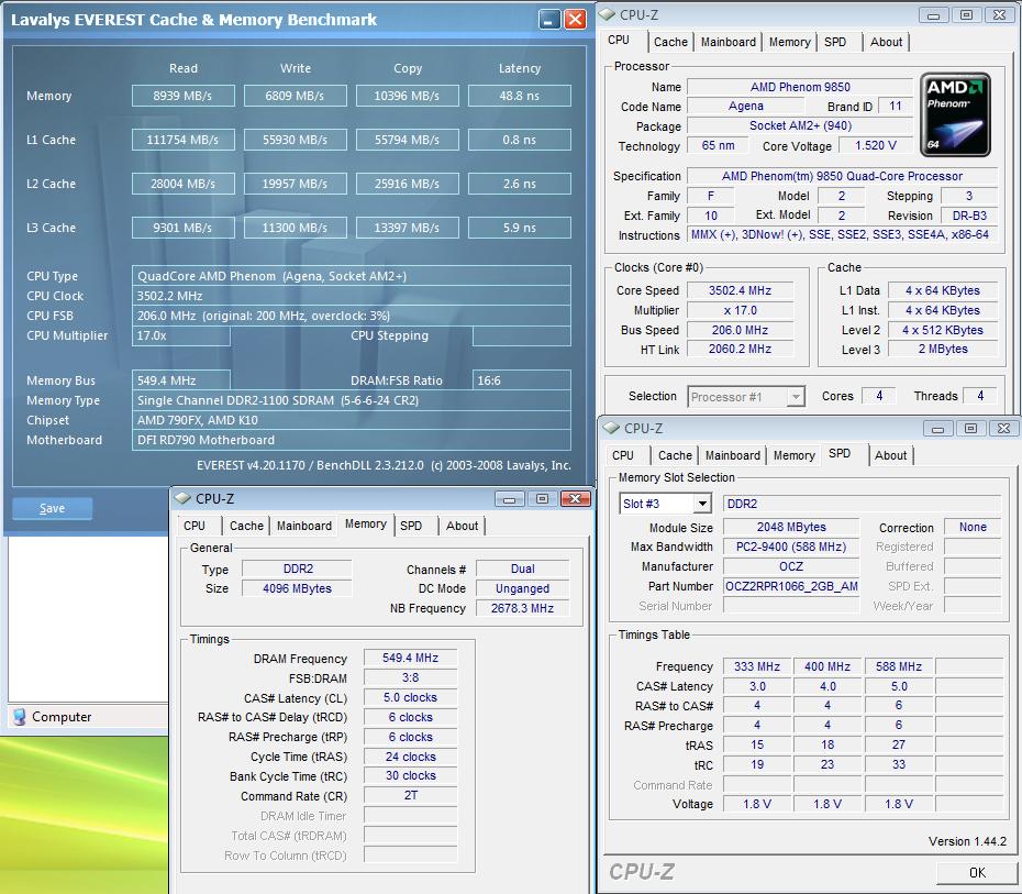 AMD Phenom 9850 Black Edition 3.5GHz'i gördü