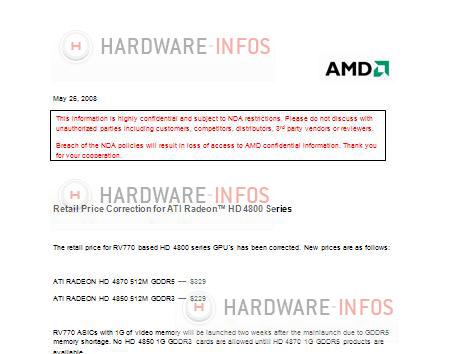 ATi Radeon HD 4800 serisinin fiyatlarını içeren yeni döküman