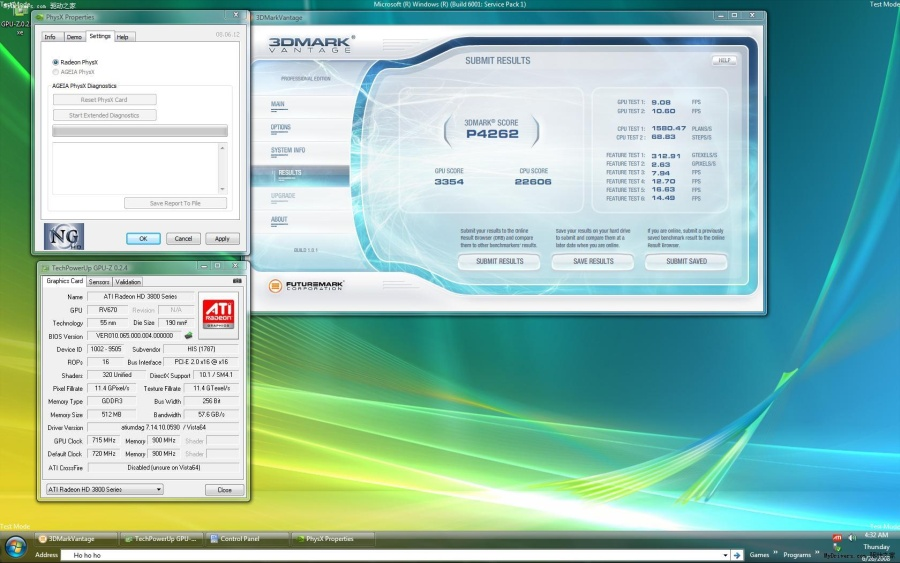 Nvidia'nın PhysX teknolojisi ATi Radeon HD 3870'de de çalışıyor