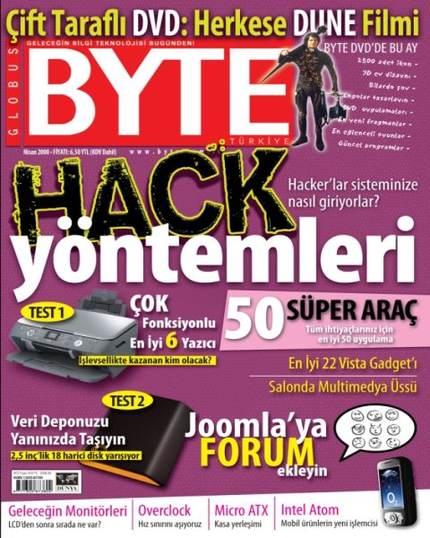 Bilgisayar dergilerinde Nisan 2008