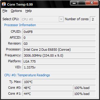 CoreTemp'in 0.99.2 sürüm numaralı yeni versiyonu yayınlandı