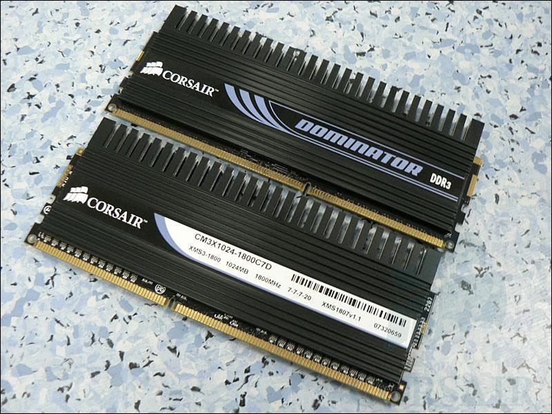 Corsair'den yüksek saat hızına sahip yeni DDR3 bellekler