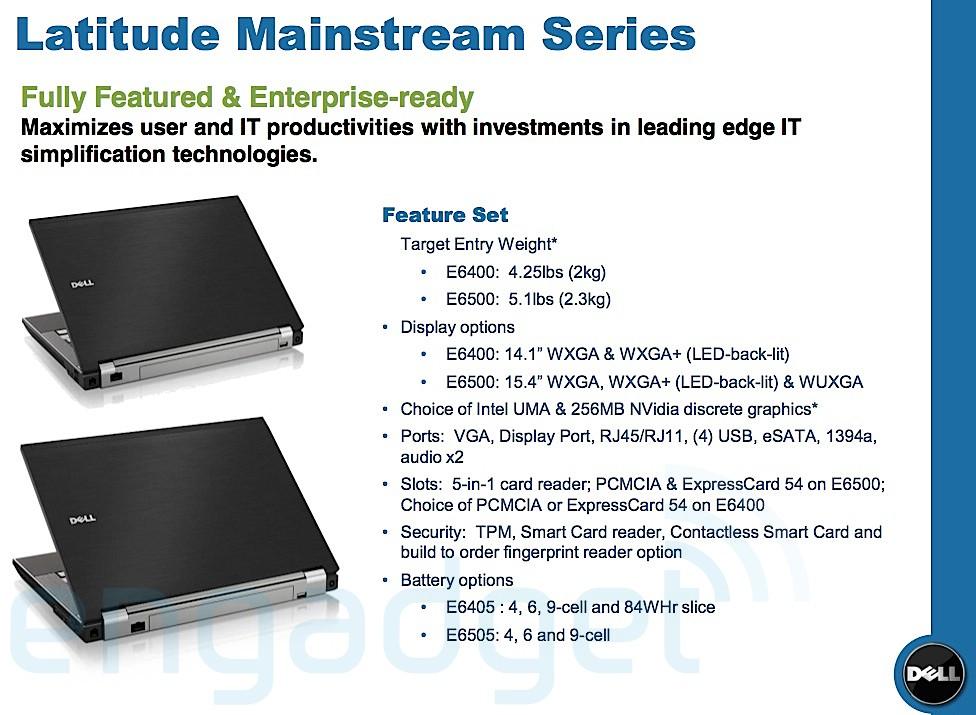 Dell'in Latituda E5000 ve E6000 serileri hakkında bazı yeni bilgiler