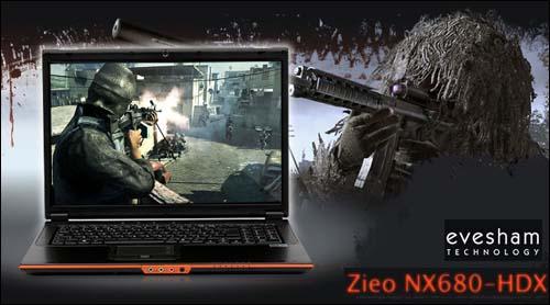 Crysis dizinizin üzerinde; Evesham Zieo NX680-HDX