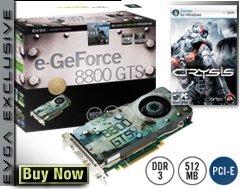 EVGA'dan Crysis'li GeForce 8800GTS