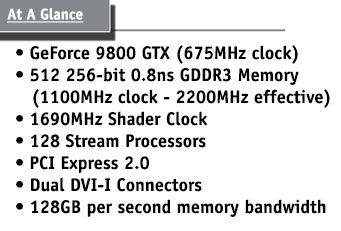 EVGA'nın GeForce 9800GTX modeli ortaya çıktı