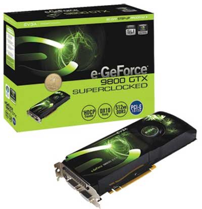 EVGA'dan saat hızları arttırılmış GeForce 9800GTX Superclocked