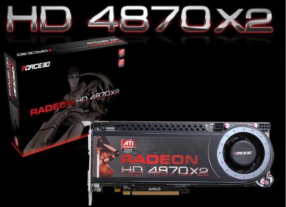 Force3D Radeon HD 4870 X2 modelini duyurdu