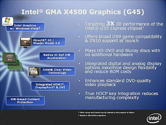 Intel G45, G35'den 1.7 kat hızlı olacak