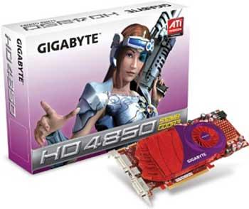 Gigabyte Radeon HD 4850 modelini kullanıma sunuyor