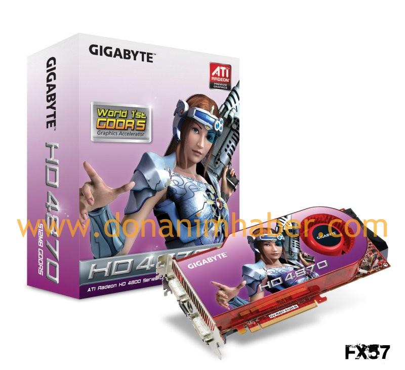 Gigabyte'ın Radeon HD 4870 modeli kullanıcılar ile buluşmaya hazır