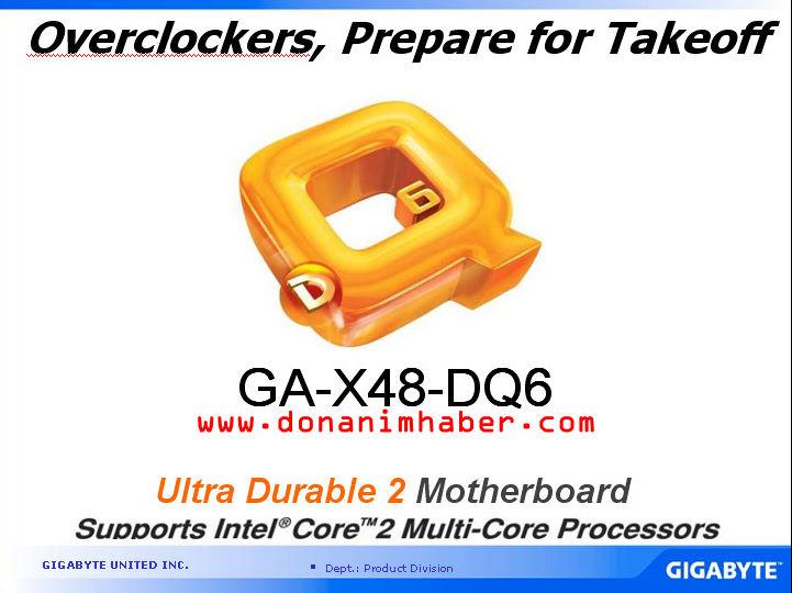 GIGABYTE X48-DQ6'nın teknik özellikleri ve detayları