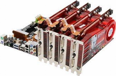 ATi Radeon HD 4870 X2, 4 yollu Crossfire teknolojisini destekliyor