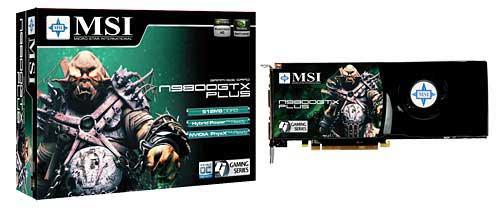 MSI GeForce 9800GTX Plus modelini duyurdu