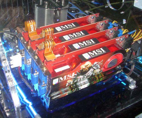 MSI Radeon HD 4870'in dört tanesiyle Quad-Crossfire sistem kurdu