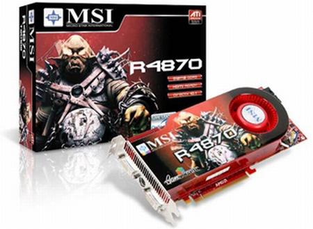 MSI Radeon HD 4870 modelini duyurdu