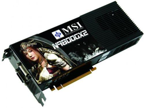 Hız aşırtmalı ilk GeForce 9800GX2 MSI'dan