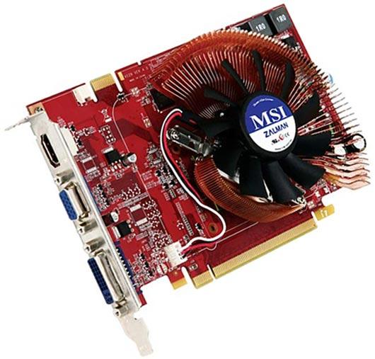 MSI'dan Zalman soğutuculu ve HDMI destekli GeForce 9500GT